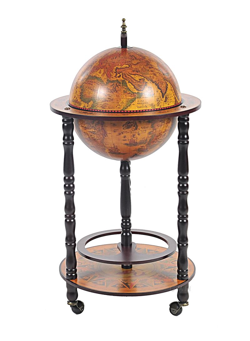 Globe Bar Table 330Mm 4 Legs Stand - Red