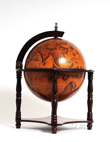 Globe Bar 13 Inches- 4 Legged Stand-Red