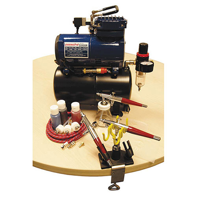 Paasche PTS-3S Professional Tattoo Set with Compressor