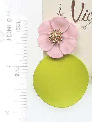 Rubber Coated Metal Flower 2 Inch Drop