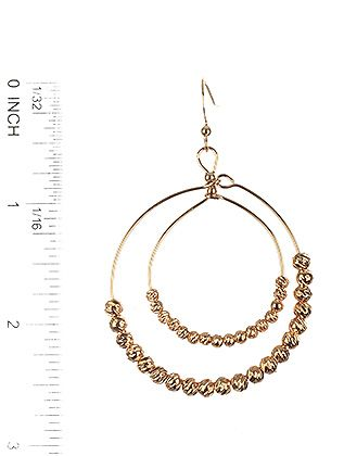 Textured Metallic Bead Double Wire Ring Fish Hook