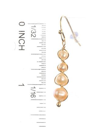 Fish Hook Fresh Water Pearl Hand Wired