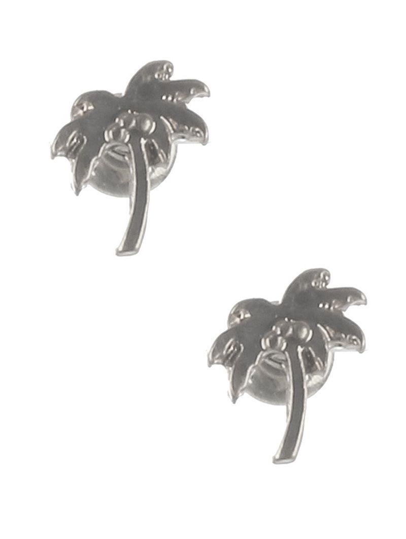 Matte Finish Metal Palmtree Stud Post Pin