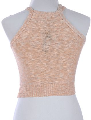 Double Strap Woven Crop Tank Stretch