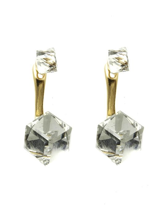 Cubic Crystal Double Side Metal Setting