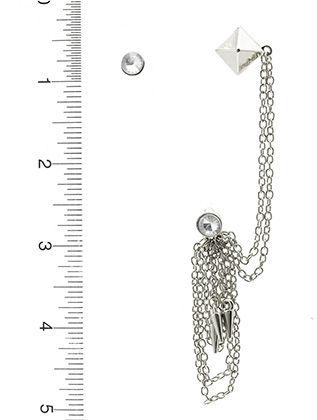 Multi Chain Drop Metal Cuff Metal Spike