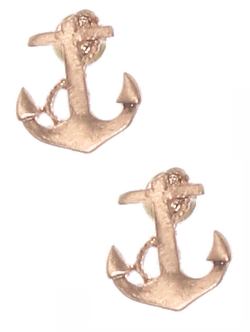Matte Finish Metal Anchor Stud Nautical