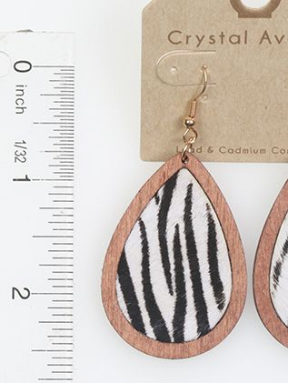 Wooden Leather Animal Print Fish Hook
