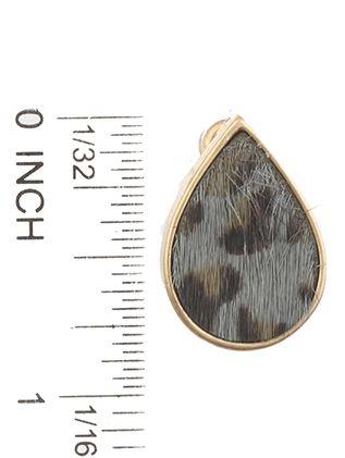 Animal Print Post Pin Tear Drop