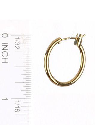 Hollow Metal Mini Hoop Hinged Earwire