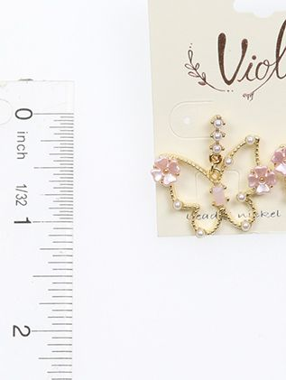 Butterfly Pearl Bead Post Pin