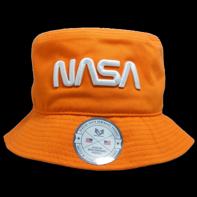 Nasa Relaxed Bucket Hat,Worm,Orange, s_m