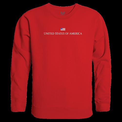 Graphic Crewneck, Usa, Red, Xl
