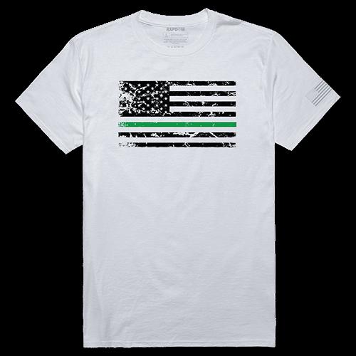 Tactical Graphic Tee, Tgl Flag, Wht, Xl