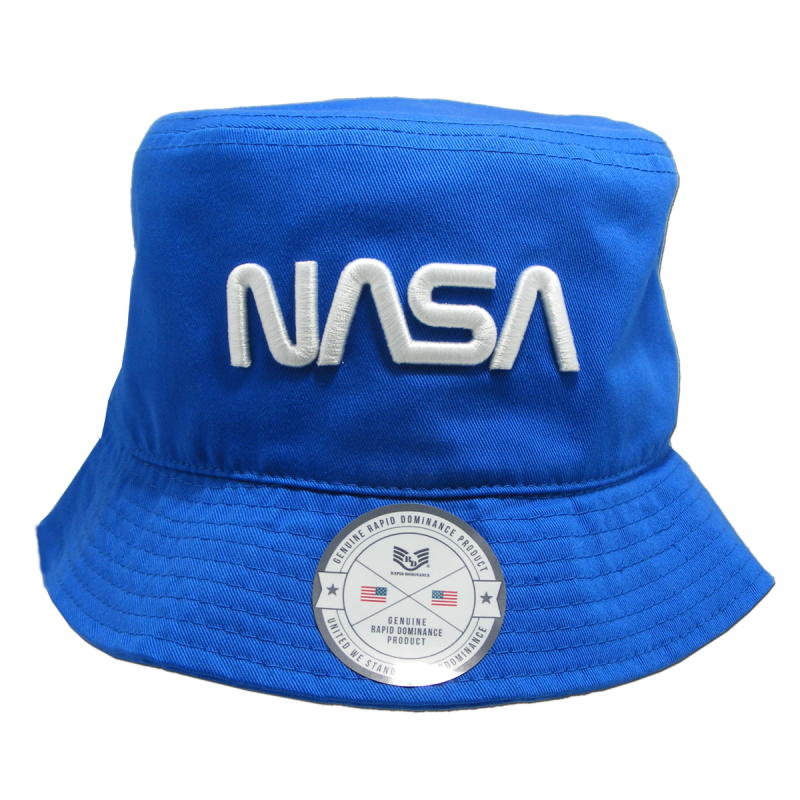 Nasa Relaxed Bucket Hat, Worm,Royal, s_m