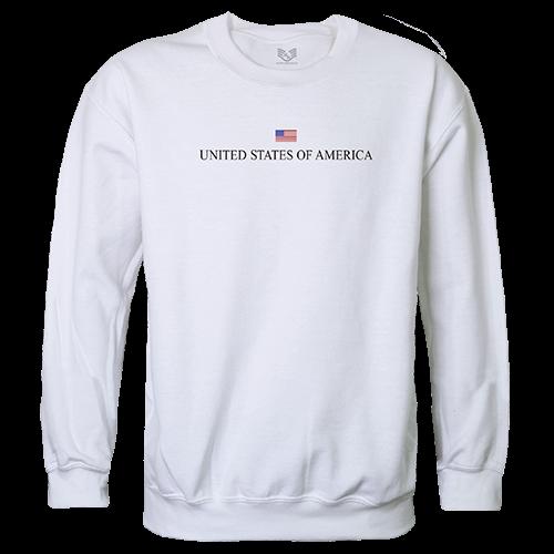 Graphic Crewneck, Usa, White, s