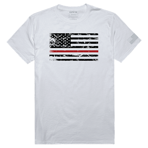 Tacticalgraphic T, Thin Red Line, Wht, s