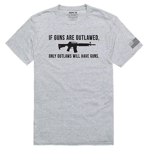 Tactical Graphic T, Outlawed, H.Grey, m