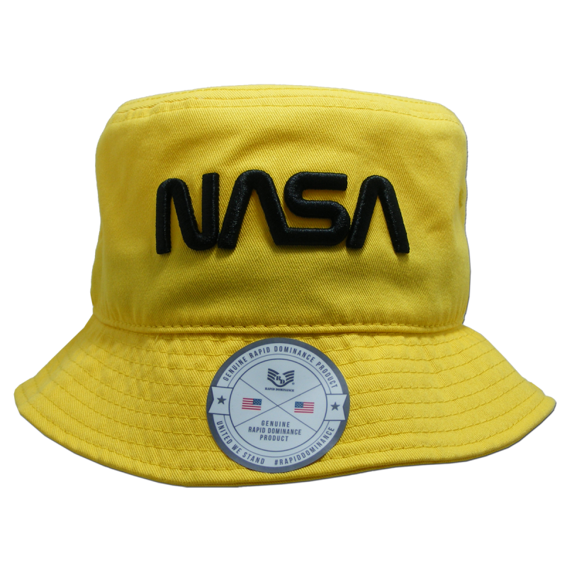 Nasa Relaxed Bucket Hat,Worm,Yellow, s_m