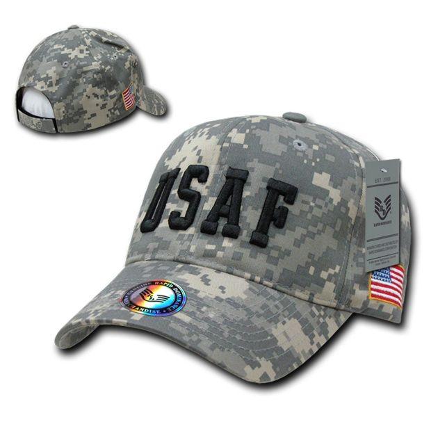 Digital Branch Caps W/ Flag, Usaf, Acu