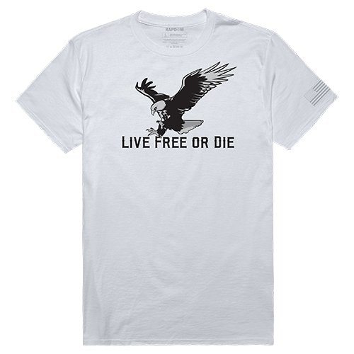 Tactical Graphic T, Live Free, White, m