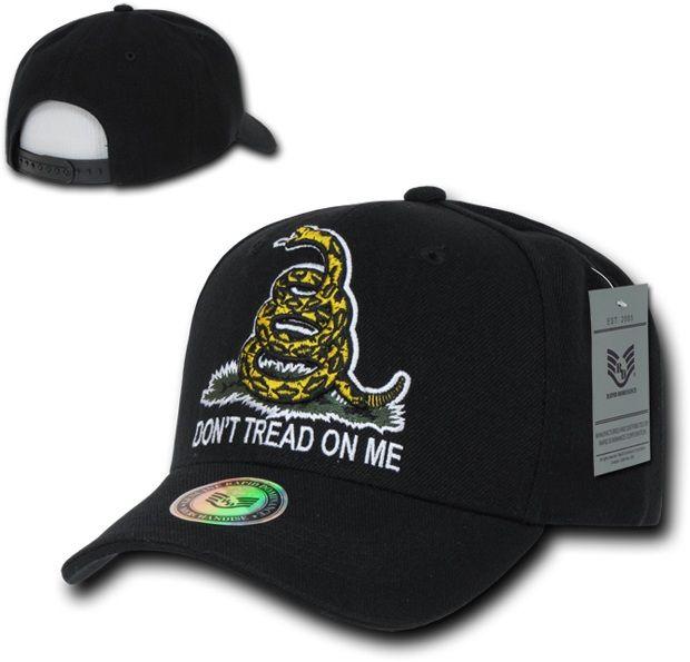 Graphic Caps, Don't Tread, Black