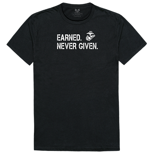Military Graphic T, Earned 1, Blk, Xl