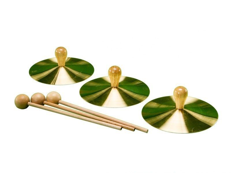 """7"""" Solid Brass Cymbal With Mallet"""
