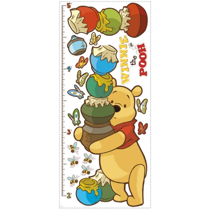 Pooh & Friends Growth Chart Wall Decal