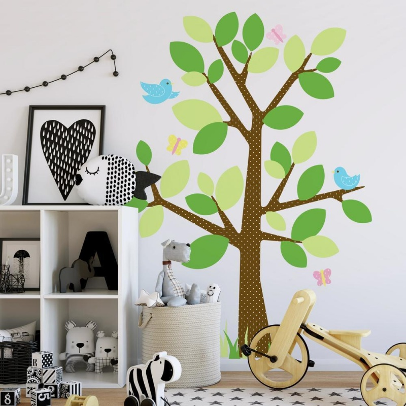 Dotted Tree Giant Wall Decal