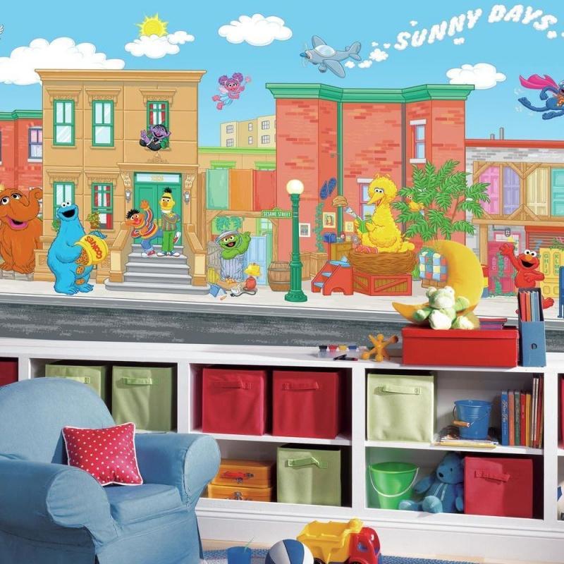 Sesame Street Xl Spray And Stick Wallpaper Mural