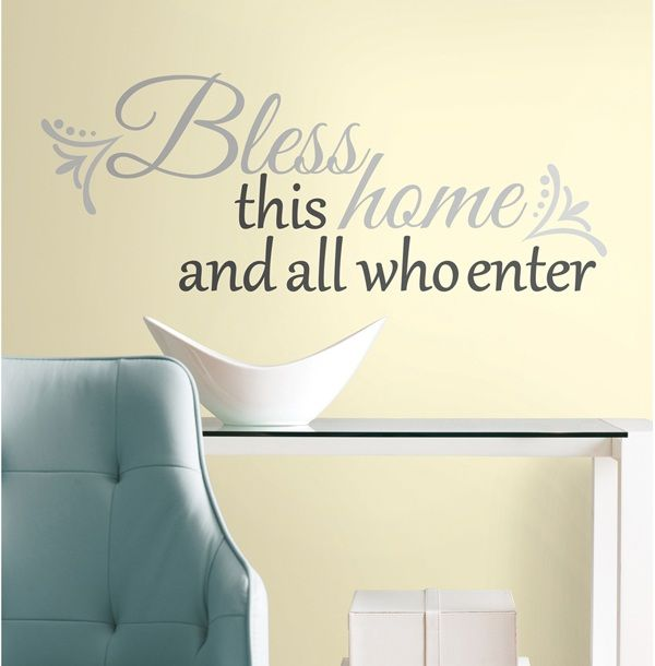 Bless This Home Quote Wall Decals