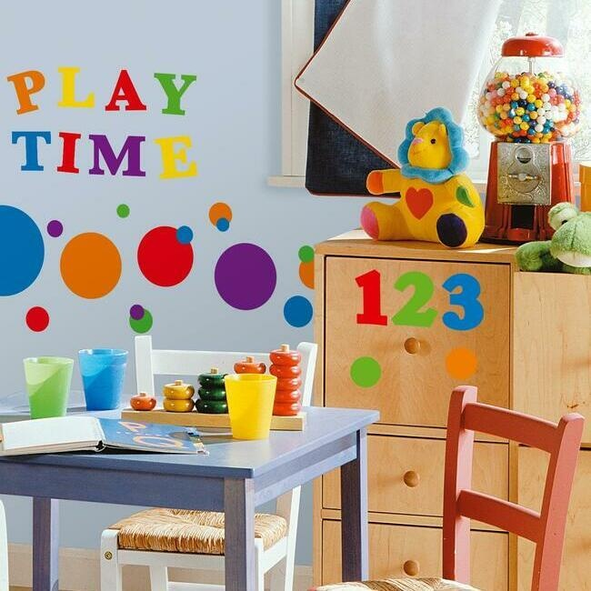 Colorful Numbers Wall Decals