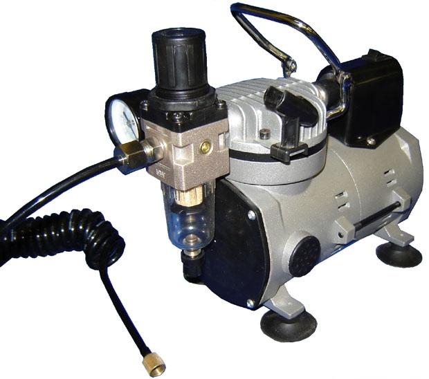 Silentaire Scorpion I-W Ultra-Quiet Airbrush Compressor, Portable Air Compressor