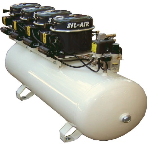Silentaire Sil-Air 200-100 4x1/2 HP Oil Lubricated Compressor