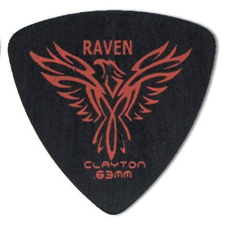 Steve Clayton™ Black Raven Pick: Rounded Triangle