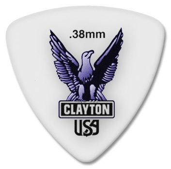 Steve Clayton™ Acetal/Polymer Pick: Rounded Triangle
