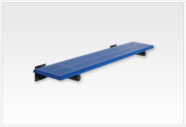 SportsPlay Team Playground Bench without Back: 10', Beveled Perforated