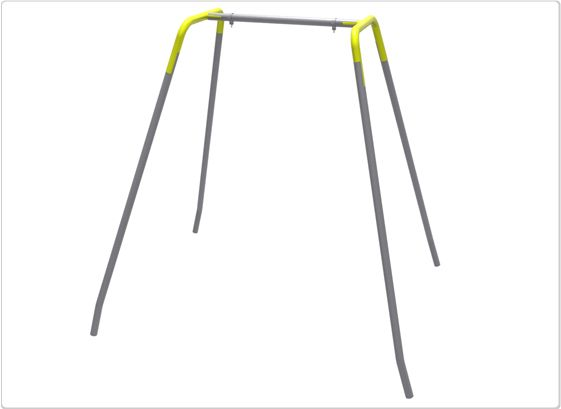 SportsPlay Swing Frame, To/Fro Hangers: Permanent - Wheelchair Accessible Swings