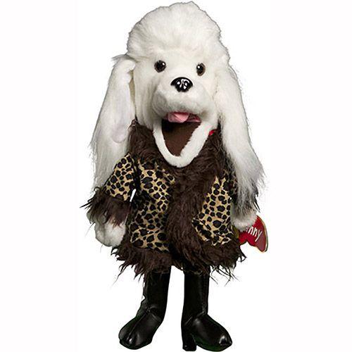 "14"" Poodle In Fur Coat"