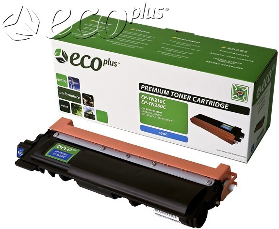 Brother OEM TN210C/TN230C Ecoplus Reman Toner Cartridge: Cyan, 1.4K Yield