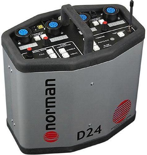 Norman Power Pack with Radio Slave-2400 Watt/Second: Model # D24R