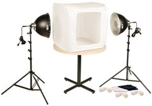 "Smith-Victor FLB-2/402055 Fluorescent 700-Watt 28"" Light Tent Kit: 2 - Lights"