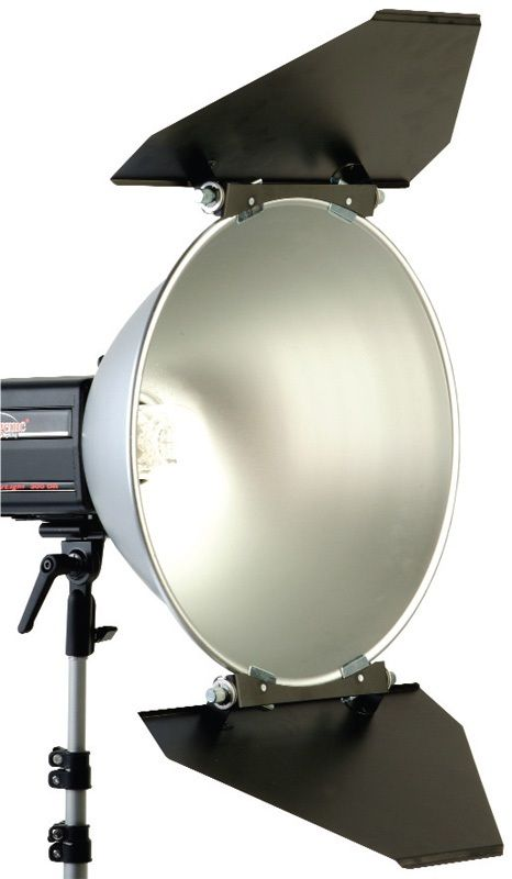 """Photogenic PL16B/916625 Trapezoid Two-Panel Barndoor Set for the 16"""" Reflector"""