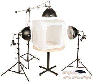 "Smith-Victor FLB-3/402056 Fluorescent 1050-Watt 28"" Light Tent Kit: 3-Lights"