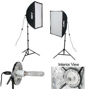 Smith-Victor KSBQ-2500/408081 KSBQ-2500 Pro Softbox Light Kit