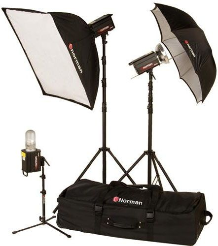 Norman MLKIT1700R/812917 Three Light Single Softbox Kit with Built-In PocketWizard Receiver
