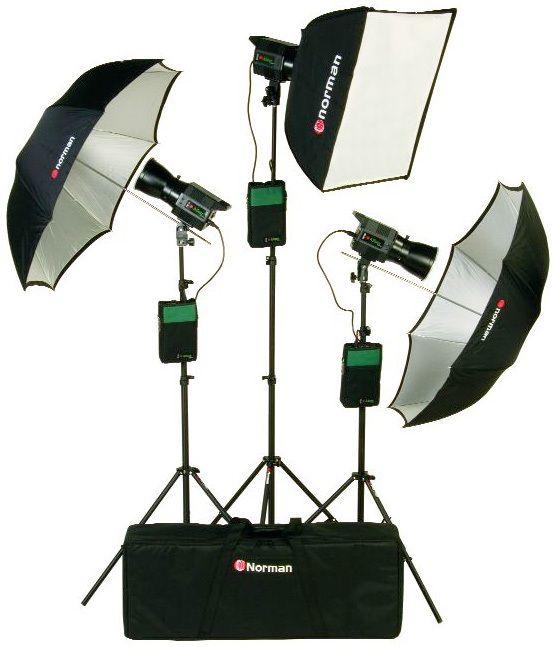 Norman DP320-KIT4/812795 Three Light Battery Travel Kit