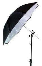"Smith-Victor 32BW/670136 32"" Black-Backed White Umbrella"