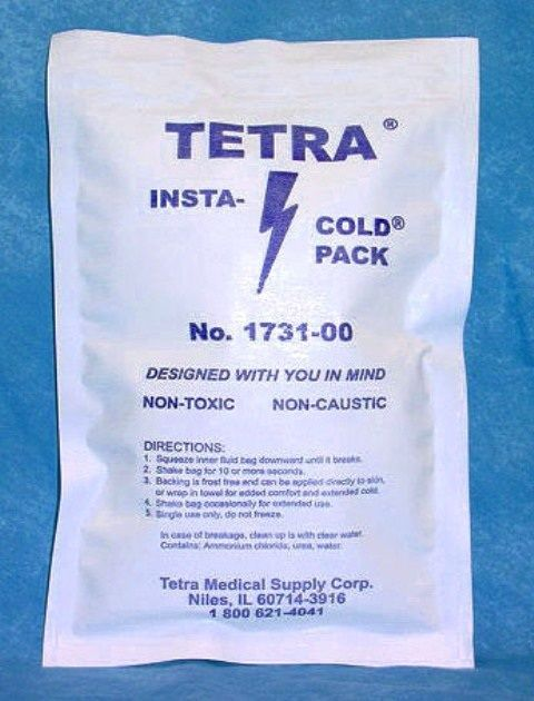 """Tetra Medical Supply Insta-Cold Pak: 6"""" x 9"""", Pack of 16"""